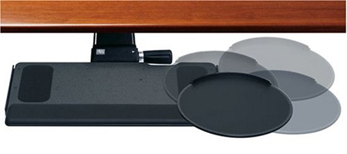 Humanscale Keyboard Standard Platform, 2G Mechanism with Clip Mouse and Leather Palm Support ()