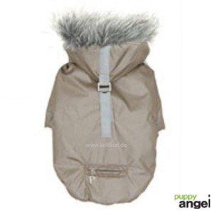 ' Slinky Bomber Dog Jacket (Champagne Silver) M 25 cm Back Length