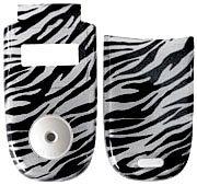 Zebra Motorola Faceplates (Zebra - Motorola V220 Faceplate Cell Phone Cover - V220 Cell Phone Front Cover/ Battery Door Cover Hard Face plate)