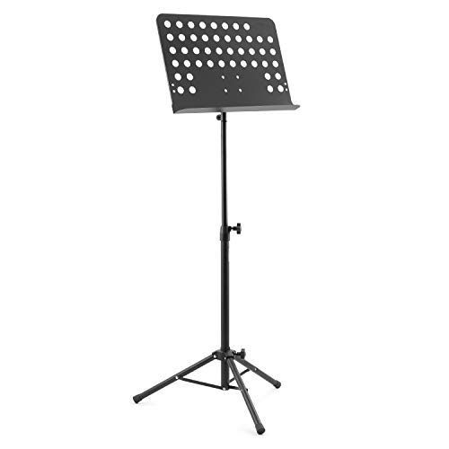 tiger orchestral music stand fully adjustable sheet music stand black buy online in uae. Black Bedroom Furniture Sets. Home Design Ideas