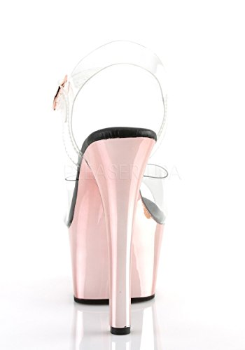 Pleaser Vrouwen Streven-608 Open Sandalen Clr / Rose Gold Chrome