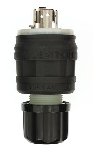Leviton 26W75 20 Amp, 250 Volt- 3PY, Locking Plug, Industrial Grade, Grounding, Wetguard, Yellow