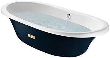 Roca A233650004 Newcast 1700 X 850 Blue Marine Exterieur Blanc Baignoire Baignoire Fonte Newcast Acrylique 170 X 85 Cm Baignoire 1 70 M Amazon Fr Bricolage
