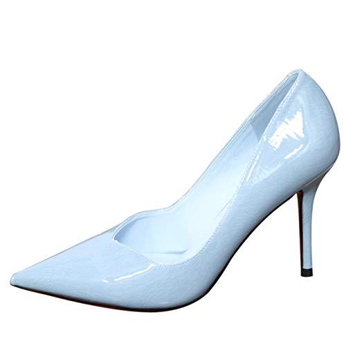 YMFIE Estilete Simple y con Estilo señaló Color Caramelo Zapatos Sexy Temperamento Zapatos de tacón Alto, 37 UE 36 EU