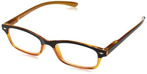A.J. Morgan Unisex-Adult Hip Daddies - Power 2.25 54257 Rectangular Reading Glasses, BROWN/ORANGE, - Glasses Hip
