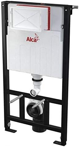 Wand WC Alca Ger/äuschisolationsplatte Komplett Set WC Vorwandelement 1000mm inkl Bet/ätigungsplatte Alca M1710 wei/ß WC Sitz mit Softclose