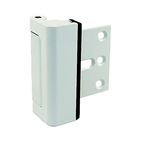 "HardwareX Supply Door Reinforcement Lock, Privacy Door Latch Harden Construction 3"" Stop, White"