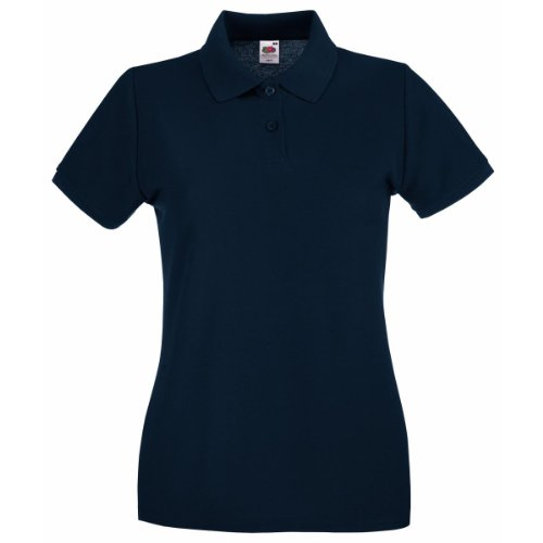 Fruit Of The Loom- Polo de manga corta Premium entallado para mujer Azul - Deep Azul Marino