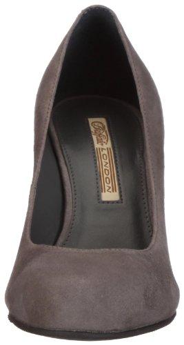 Buffalo London 9681-525 - Zapatos de vestir de ante para mujer Gris