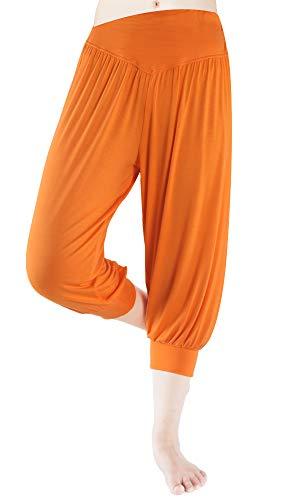 fitglam Women's Harem Capri Pants Comfy Cropped Yoga Jogger Workout Lounge Pants