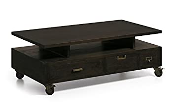 Mesas de Centro con Ruedas : Colección INDUSTRIAL de 120x43x65cms.: Amazon.es: Hogar