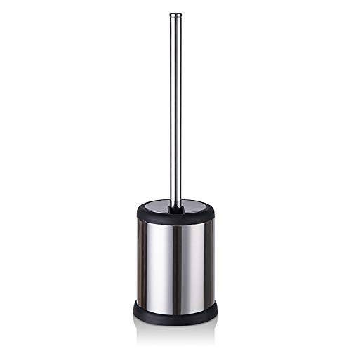 Miukada Toilet Brush Holder,Bathroom Bowl Cleaner Base Self Closing Lid.304 Stainless Steel Compact - Self Closing Lid