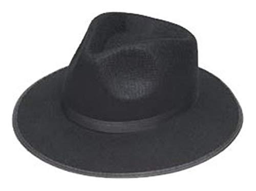 Ovedcray Costume series Black Ganster Adult Hat ()