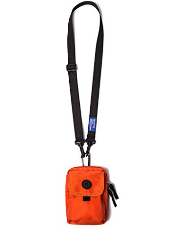 Small Crossbody Bags For Women, Cross Body Purses Travel Pouch Small Shoulder Bag For Men (Mini Orange)