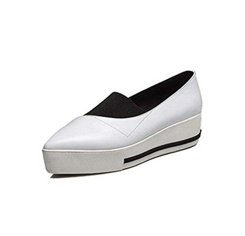 Ocasionales Negro Mujer Blanco Talla Blanco Marrón Zapatos de Zapatos Plataforma de Transpirables Antideslizantes Ocasionales 39 34 qzwP5t