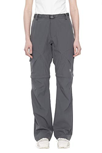 Little Donkey Andy Women's Stretch Convertible Pants Zip-Off Quick Dry Hiking Pants Steel Gray Size M (Women Convertible Pants Cargo)