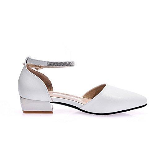 AdeeSu Compensées Blanc Blanc EU Femme 36 5 Sandales 77wqrH