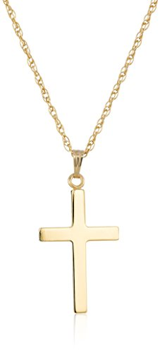 14k Gold-Filled Polished Cross Pendant Necklace, 18