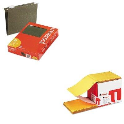 KITUNV14115UNV15874 - Value Kit - Universal Multicolor Paper (UNV15874) and Universal Hanging File Folders (UNV14115)