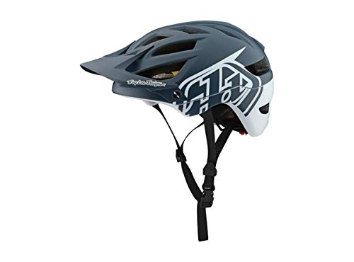 Troy Lee Designs Adult | All Mountain | Mountain Bike | A1 Classic Helmet with MIPS (X-Large/XX-Large, Gray/White) (Classic Bike Helmet)