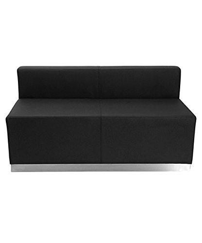 Flash Furniture HERCULES Alon Series Black Leather Loveseat