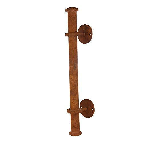 16 5/8 Inch Iron Pipe Door Handle Pull Handmade Cast Iron Rust Finish Heavy Duty Long Pull Handle for Gate Kitchen Furniture Cabinet Sold as Each