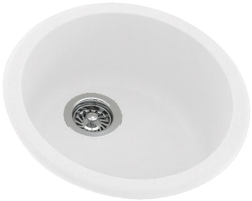 Swanstone KSRB-18-010 18-1/2-Inch Diameter Round Bowl Kitchen Sink, White Finish by Swanstone B001973D4S  ホワイト