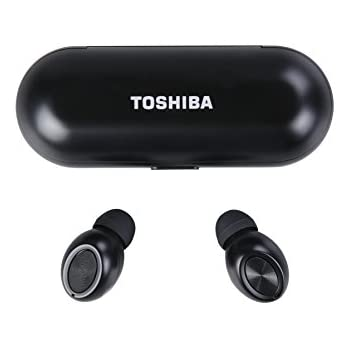 Toshiba RZE-BT700E True Wireless Stereo Sweat-Resistant Bluetooth 4.1 Earphones with Built-in Microphone up to 30 (10m) Black