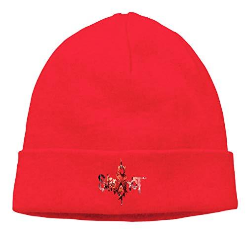 Gaoger Mens & Womens Slipknot Skull Beanie Hats Winter Knitted Caps Soft Warm Ski Hat Red]()