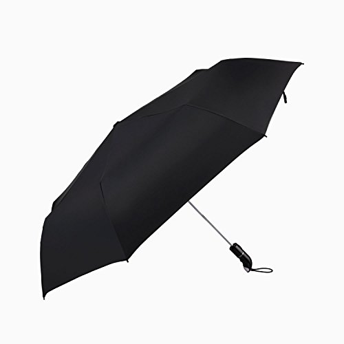 JUNRUIR自動開閉折り畳み傘頑丈な8本親骨撥水耐風折りたたみ傘ワンタッチ自動開閉折りたたみ傘鞄に常備115cmブラック