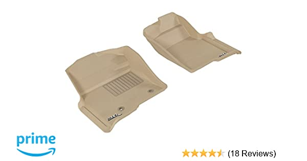Kagu Rubber 3D MAXpider Front Row Custom Fit All-Weather Floor Mat for Select Ford F-150 SuperCrew Models Tan