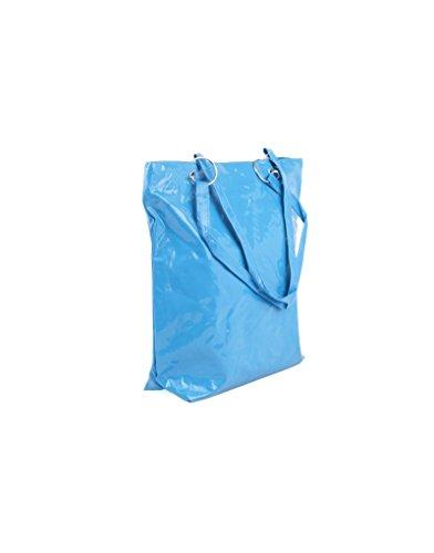 Ragazza Rettangolare Borsa 31x37x10 Blu Manici Con q1xSwYI