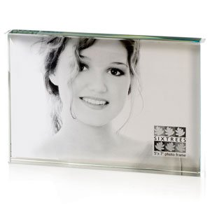 Clear 5 X 7 Glass Block Photo Frame Amazoncouk Kitchen Home