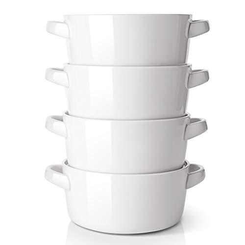 DOWAN 24 Ounces Porcelain Soup Bowls with