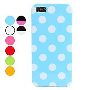 Dots Pattern Soft Case for iPhone 5/5S (Assorted Colors) --- COLOR:Black