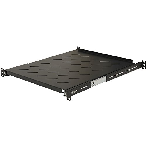 Navepoint Sliding Rack Vented Server Shelf 1U 19'' 4 Post Rack Mount Adjustable 20'' - 34'' by NavePoint