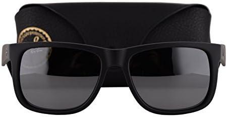 Ray Ban Justin RB4165 6226G Rubber Schwarz Sonnenbrille