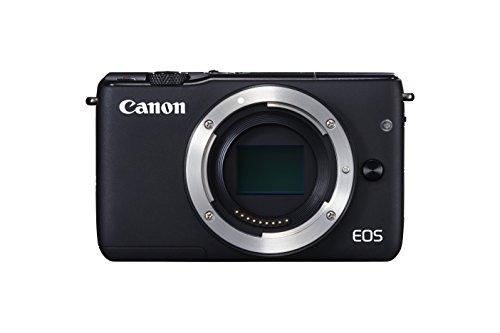Canon EOS M10 Systemkamera (18 Megapixel, 7,5 cm (3 Zoll) Display, STM, WLAN, NFC, 1080p, Full HD) nur Gehäuse schwarz