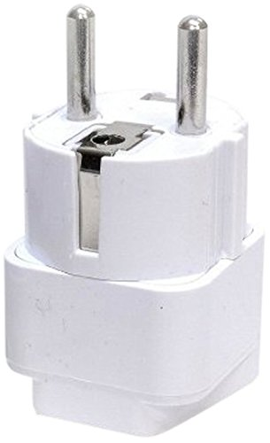 Ckitze Universal Grounded European Travel Plug Adapter (Euro Plug Converter)