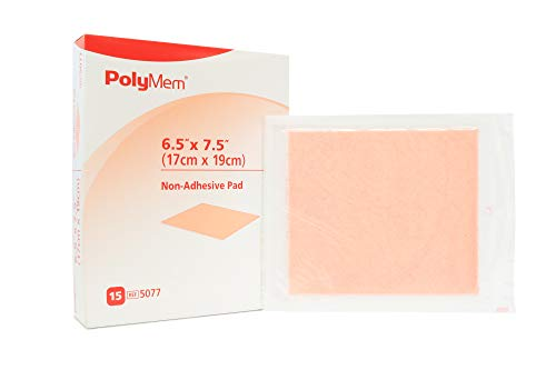 - PolyMem Non-Adhesive Wound Dressing, Sterile, Foam, 6.5' X 7.5' Pad, 5077 (Box of 15)