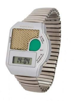 Reloj de pulsera, Blindenuhr flexibles brazalete de acero inoxidable - cubo de basura que habla