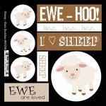 Barn Buddies Collection - Cardstock Stickers - Sheep (Sheep Collection)