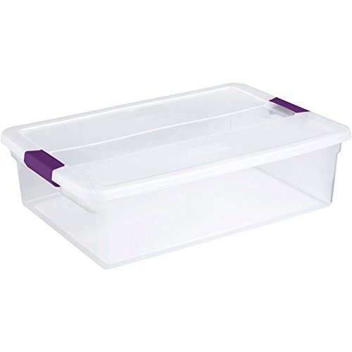 Clear View Latch (Sterilite 17551706 32 Quart Clear View Storage Container With Plum Handles)