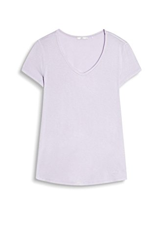 edc by Esprit 047cc1k040, Camiseta para Mujer Morado (Lavender)