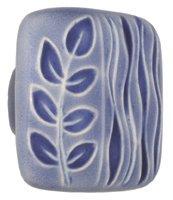 - Acorn Manufacturing PSAYP 1.875 Inch Large Square Knob, Light Blue/Blue Sea Grass Finish