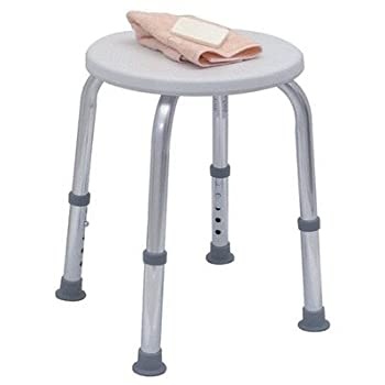 HealthSmart Extra Compact Lightweight Shower Stool with Adjustable Height
