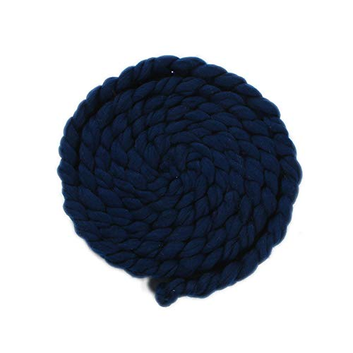(ACE SHOCK Photography Blanket for Newborn Babies, Cute Infant Hand-Knitted Twisted Braid Rug Blanket (One Size, Navy Blue))