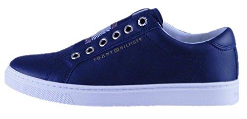 Tommy Hilfiger Damen Iconic Metallic Elastic Sneaker Midnight