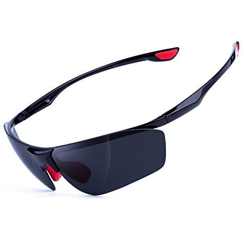 MEETLOCKS Sport Polarized Sunglasses for Men Changeable UV400 Lens Unbreakable TR90 Frame For Cycling Running Outdoor Fishing