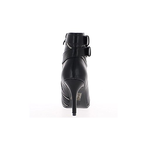 Nero stivali a tacchi sottili 9cm puntata punte